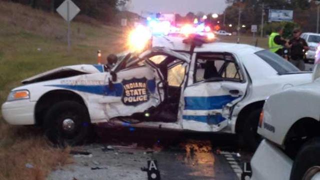 Police car wreck